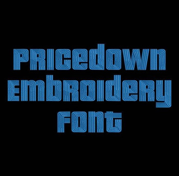 Pricedown Machine Embroidery Font Now Includes BX Format!