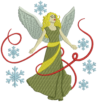 Christmas Angel - Christmas Angel #06 Machine Embroidery Design