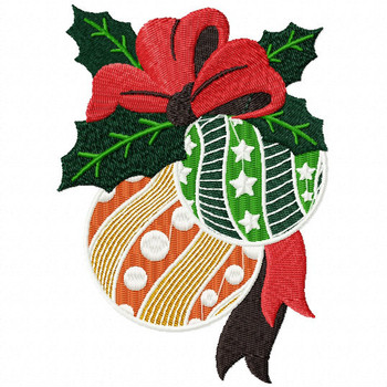 Christmas Ornaments - Christmas Scene #02 Machine Embroidery Design