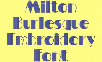 Milton Burlesque Font