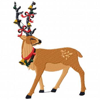 Christmas Reindeer - Christmas Character #04 Machine Embroidery Design