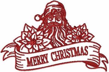 Merry Christmas - Christmas Redwork #09 Machine Embroidery Design