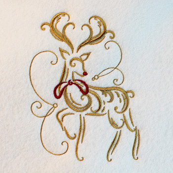 Abstract Reindeer - Abstract Christmas #05 Machine Embroidery Design