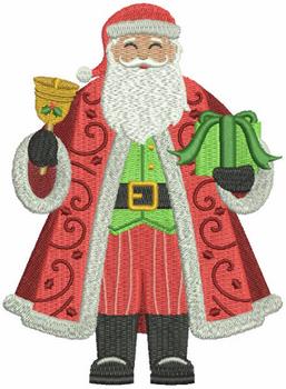 Mr. Santa Claus - North Pole Character #01 Machine Embroidery Design