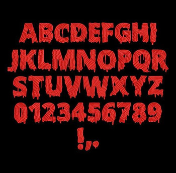 Scary Halloween Machine Embroidery Font Now Includes BX Format