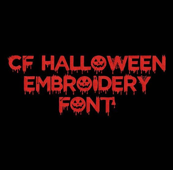 CF Halloween Machine Embroidery Font Now Includes BX Format