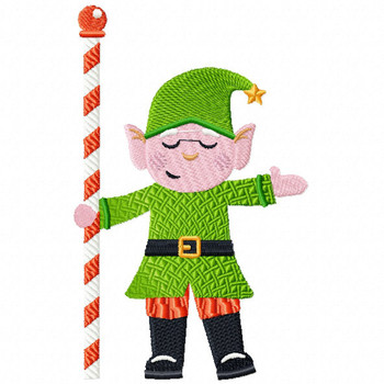 Welcoming Elf - North Pole Character #04 Machine Embroidery Design