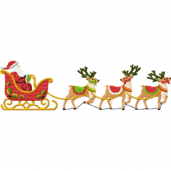 Santa's Sleigh - North Pole Character #07 Machine Embroidery Design