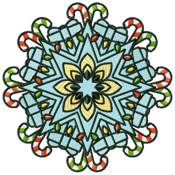Christmas Mandala #01 Machine Embroidery Design
