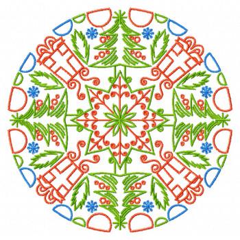 Christmas Mandala #02 Machine Embroidery Design