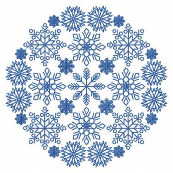 Christmas Mandala #03 Machine Embroidery Design