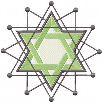 Green Chanukah - Hanukkah #08 Machine Embroidery Design
