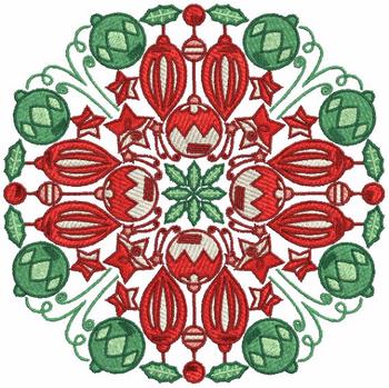 Christmas Mandala #04 Machine Embroidery Design