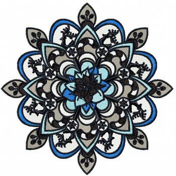 Christmas Mandala #07 Machine Embroidery Design