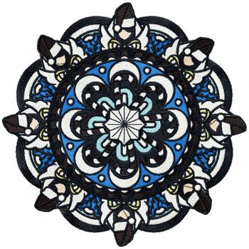 Christmas Mandala #08 Machine Embroidery Design