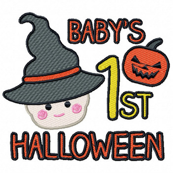 Baby's First Halloween - Baby's First #03 Machine Embroidery Design