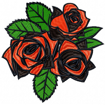 Detailed Rose Pattern Collection #06 Machine Embroidery Design
