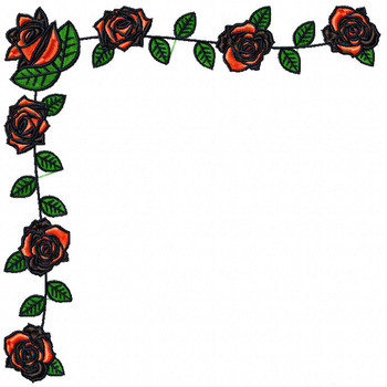 Detailed Rose Napkin Corner Pattern Collection #08 Detailed Rose Pattern Collection #09 Machine Embroidery Design