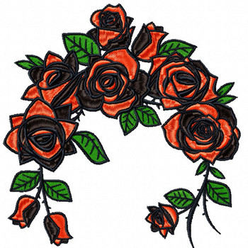 Detailed Rose Pattern Collection #09 Machine Embroidery Design