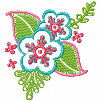 Pansy - Flower #03 Machine Embroidery Design