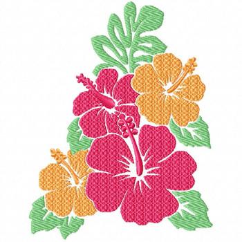 Hibiscus 1 - Flower #06 Machine Embroidery Design