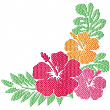 Hibiscus 3 - Flower #08 Machine Embroidery Design