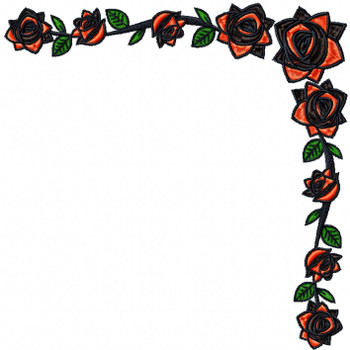 Detailed Rose Pattern Collection #14 Machine Embroidery Design