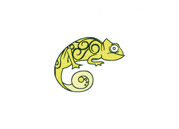 Gecko Machine Embroidery Design