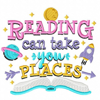 Reading Can Take You Places - Reading Hobby #02 Machine Embroidery Design