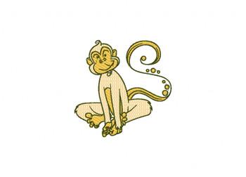 Monkey Machine Embroidery Design