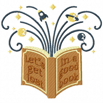Let's Get Lost in a Good Book - Reading Hobby #08  Machine Embroidery Design