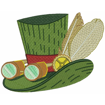 Steampunk Top Hat - Machine Embroidery Design - Steampunk Collection #17
