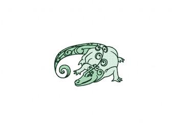 Crocodile Machine Embroidery Design