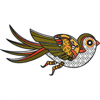 Steampunk Bird - Machine Embroidery Design - Steampunk Collection #18