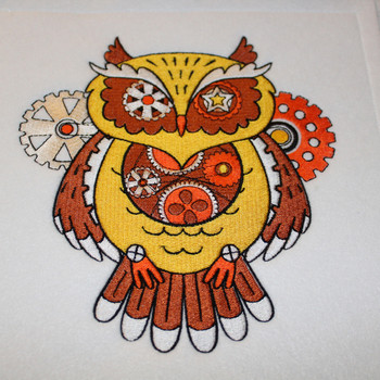 Steampunk Owl - Machine Embroidery Design - Steampunk Collection #19