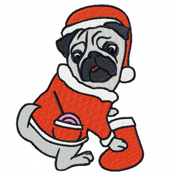 Pug #05 Machine Embroidery Design