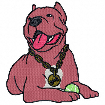 Pit Bull #02 Machine Embroidery Design