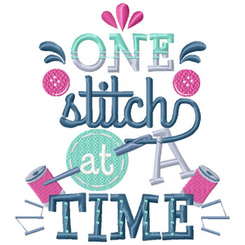 One Stitch at a Time - Sewing Hobby #04 Machine Embroidery Design