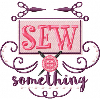 Sew Something - Sewing Hobby #06 Machine Embroidery Design