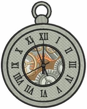 Steampunk Timepiece 04 - Machine Embroidery Design - Steampunk Collection #22