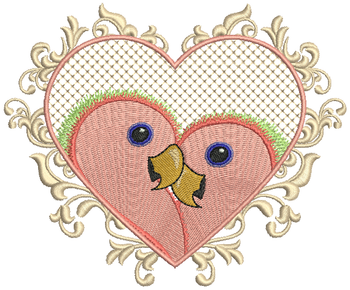 Love Birds #01 Machine Embroidery Design
