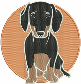 Dachshund #01 Machine Embroidery Design