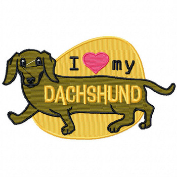 Dachshund #04 Machine Embroidery Design