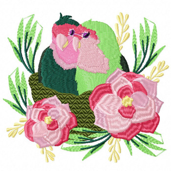 Love Birds #04 Machine Embroidery Design