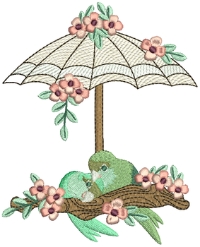 Love Birds #05 Machine Embroidery Design