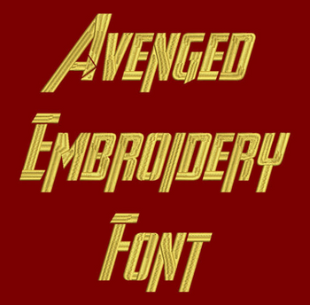 Avenged Machine Embroidery Font - Now Includes BX Format!