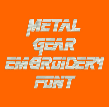 Metal Gear Machine Embroidery Font - Now Includes BX Format!