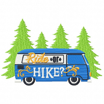 Ride or Hike - Machine Embroidery Design - Hiking Collection #06