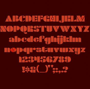 Densmore Font full alphabet