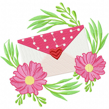 Valentine Love Letter Collection #02 - Machine Embroidery Design